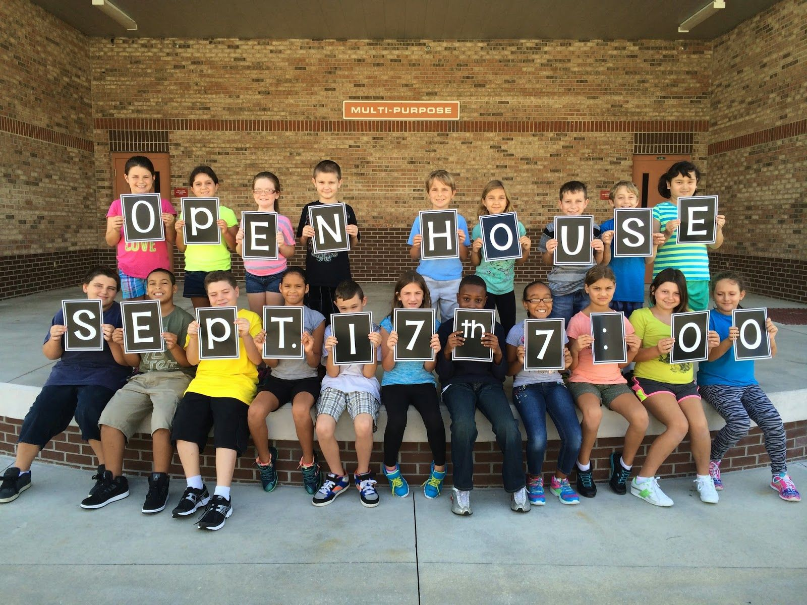 Open House Get students excited about open house with this invite