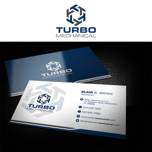 Turbo Mechanical New Business Business Cards Creative