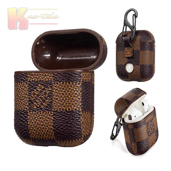 Checkered Lv Style Apple Airpods Leather Case B Louis Vuitton Phone Case Goyard Iphone Case Louis Vuitton