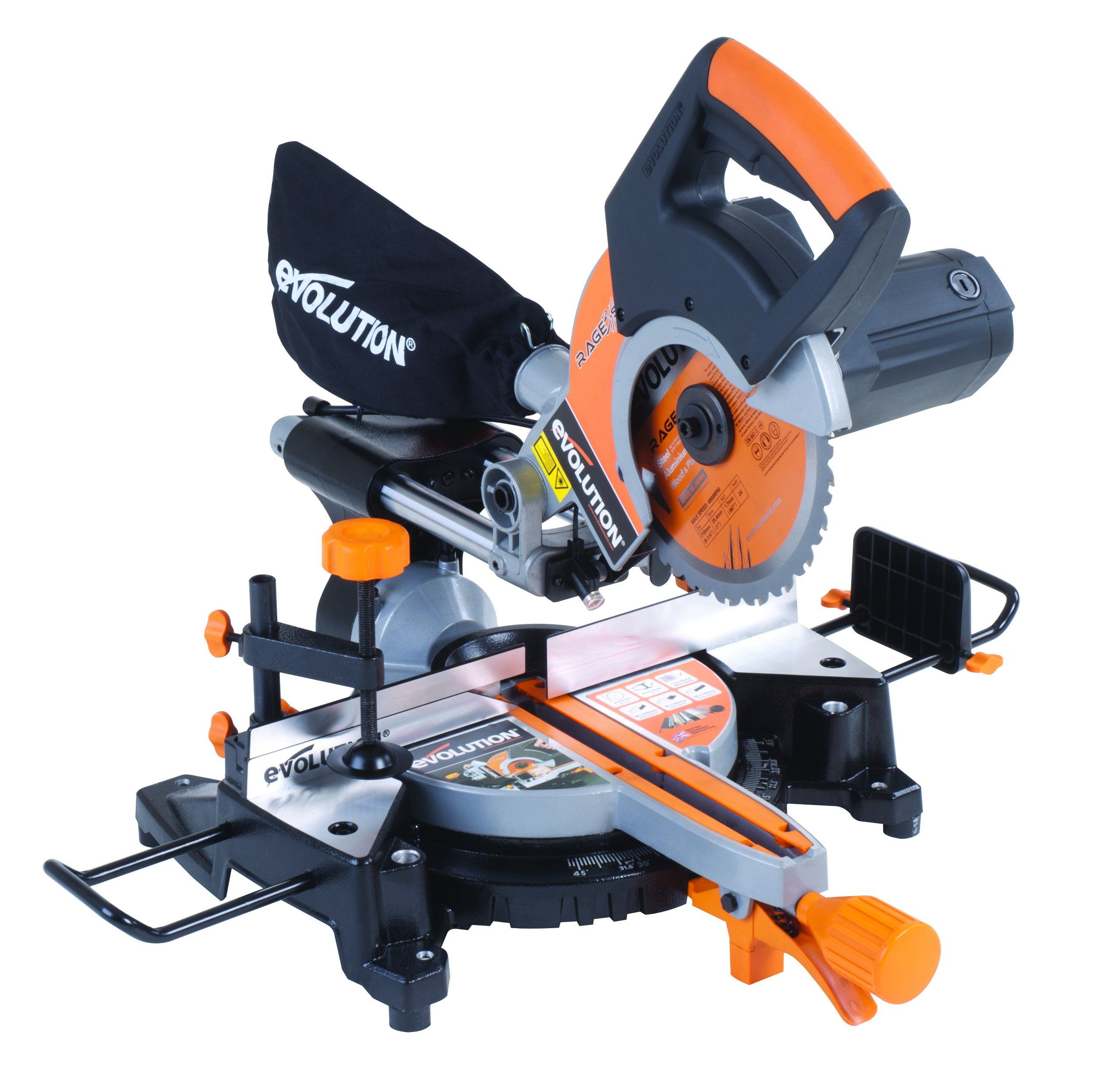Evolution Rage3 S Multipurpose Sliding Mitre Saw 210 Mm
