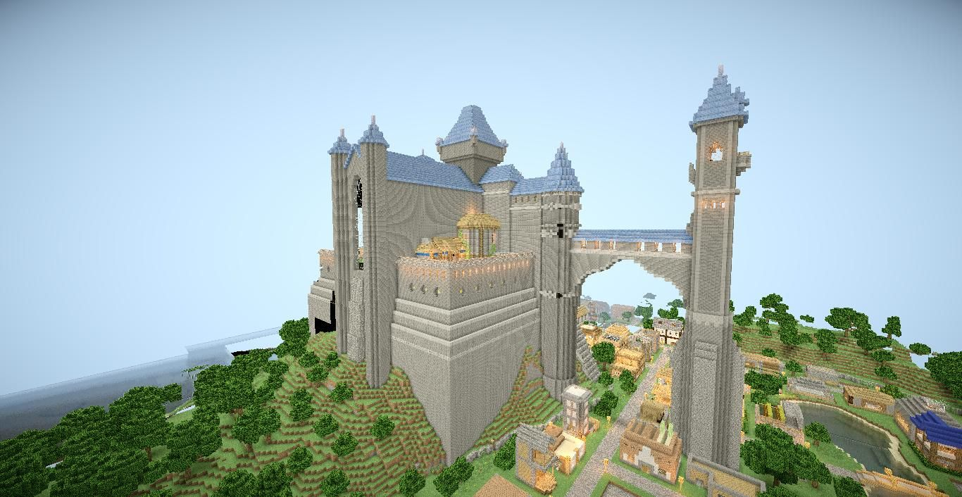 The Fable 2 Castle Recreated In Minecraft Checkout Detailed Pictures Of This Castles Interior And Exterior