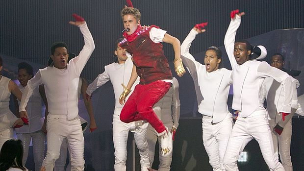 Justin Bieber performs Sunday during the 2012 MuchMusic Video Awards in Toronto.