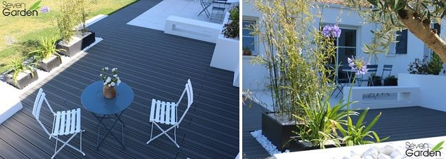 melanger carrelage et bois composite sur grande terrasse. Black Bedroom Furniture Sets. Home Design Ideas