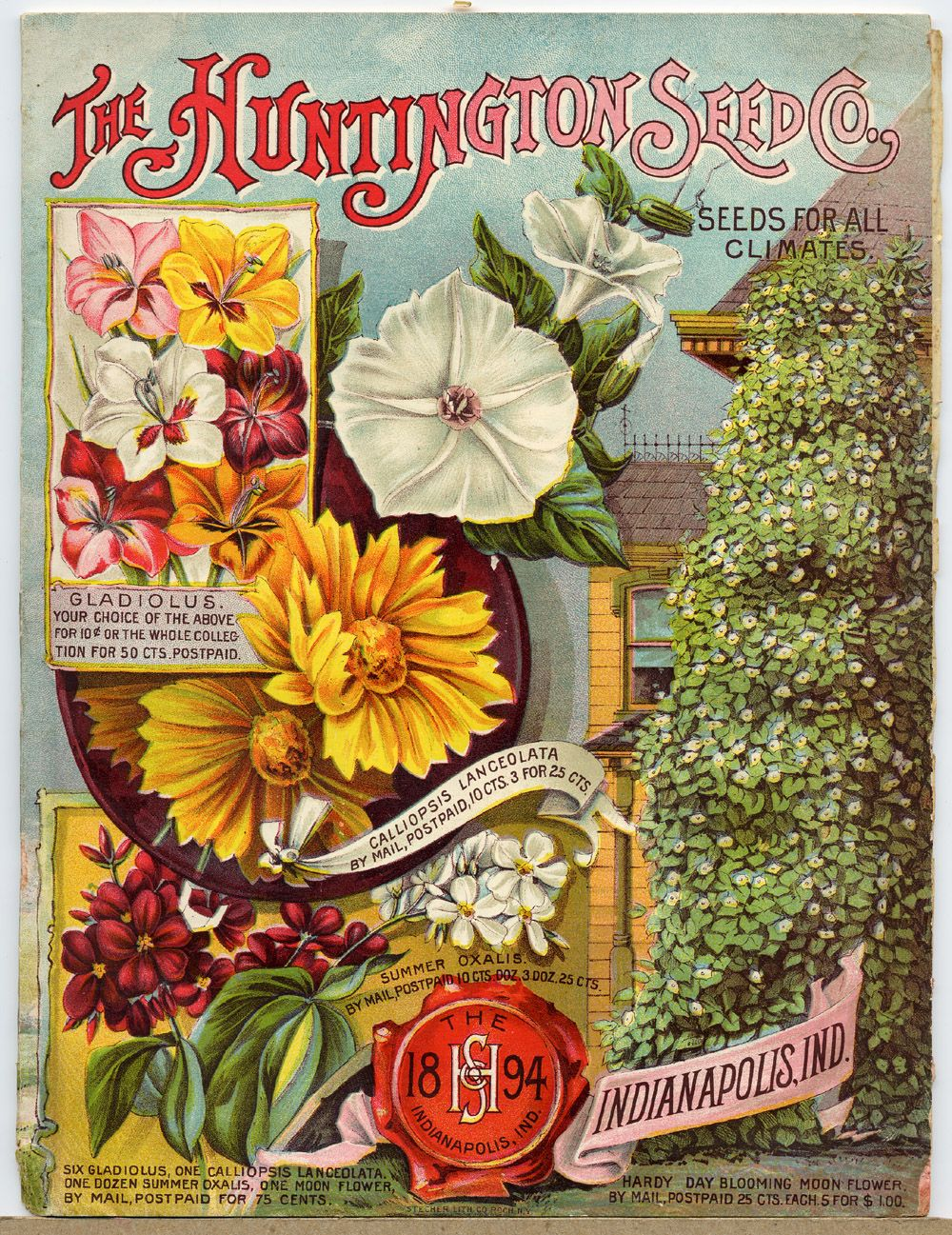 1898 Seed catalog cover featuring Morning Glories