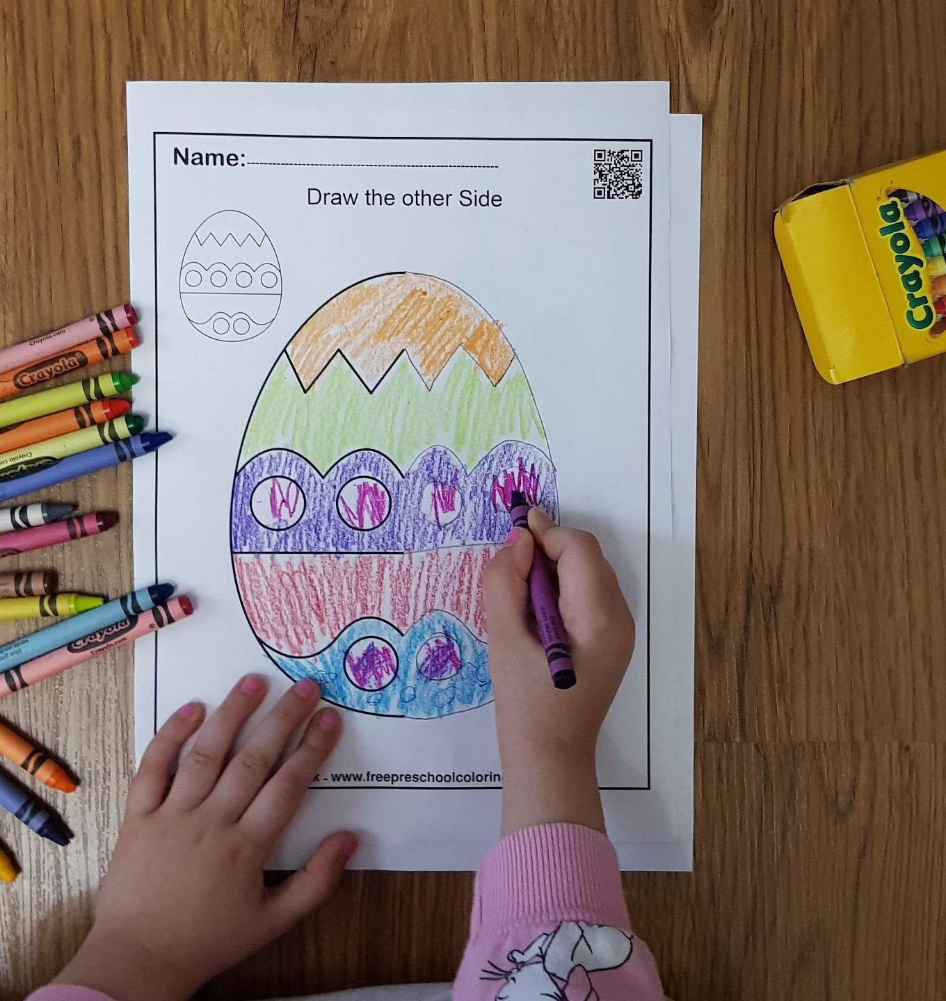 Spring Symmetry Draw The Other Half Free Preschool