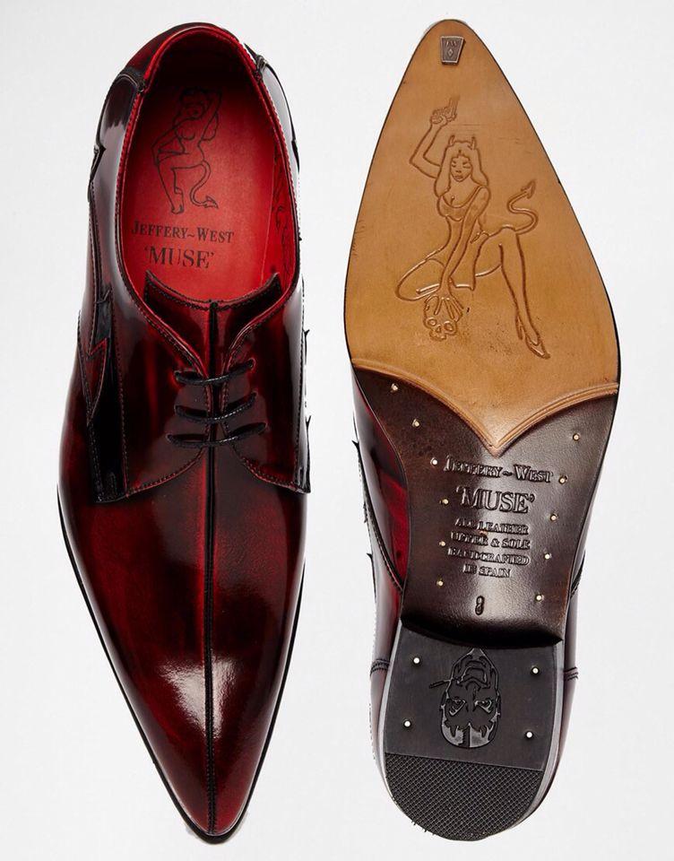 Zapatos Derby de cuero de Jeffery West