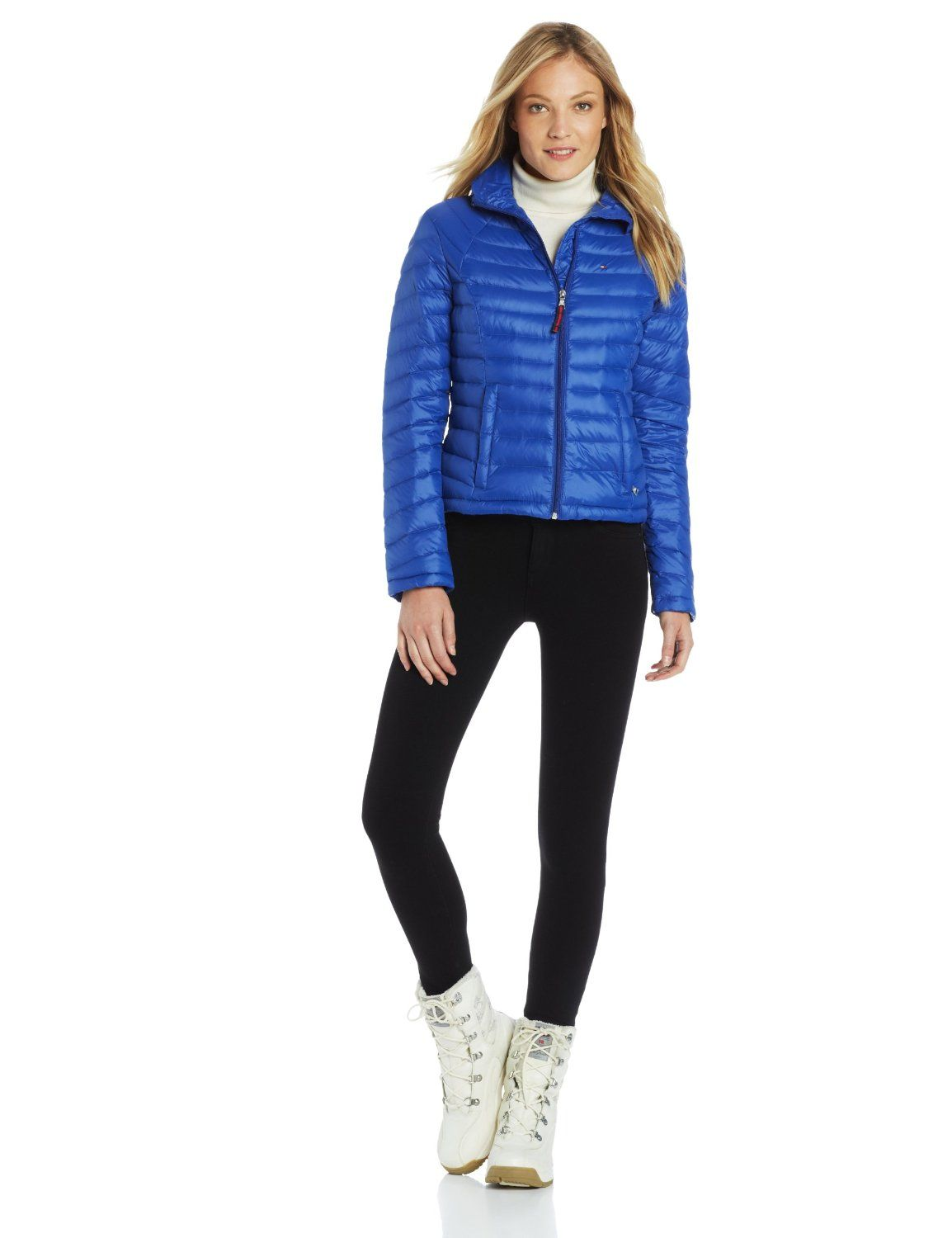 Tommy Hilfiger Women's Packable Down Jacket with Wave