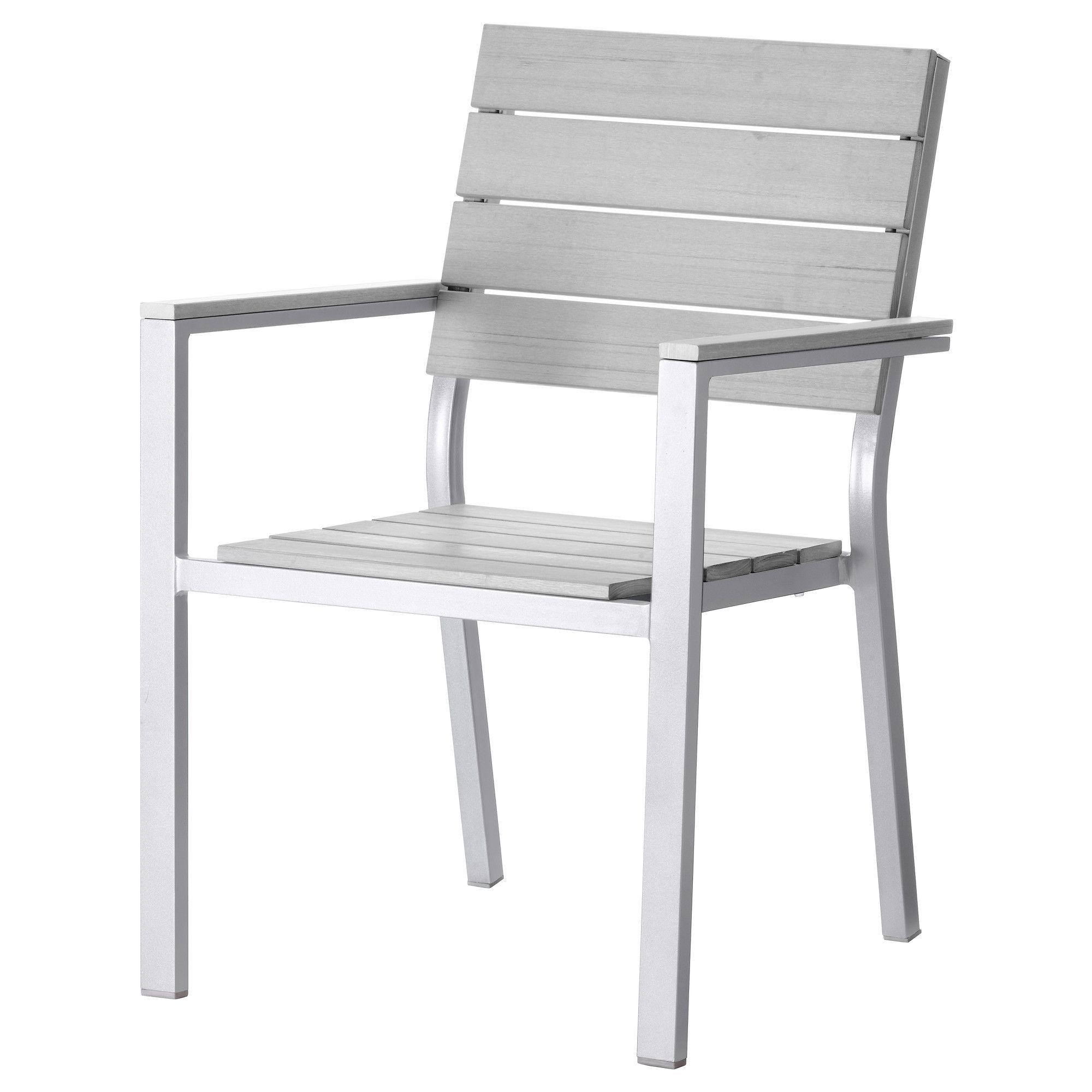 Ikea Gartenstuhl falster armlehnstuhl außen grau jetzt bestellen unter https