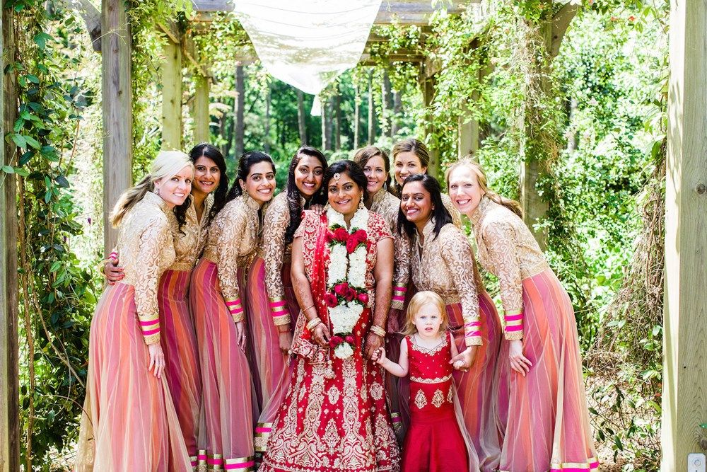 Modern Indian American Multicultural Wedding