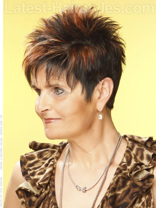 spiked hair cuts for women over 50