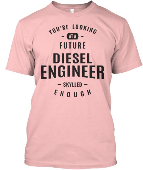Diesel Engineer T Shirt Pale Pink T-Shirt Front