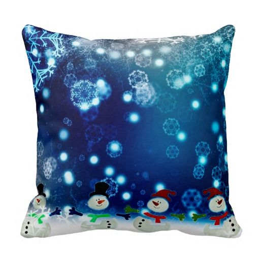 Dancing Snomen Throw Pillow #christmasdecorations #christmasdecor #snowmen #throwpillows  http://www.zazzle.com/dancing_snomen_throw_pillow-189632948148628307?rf=238301761307787921