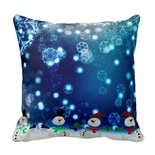 Dancing Snomen Throw Pillow #christmasdecorations #christmasdecor #snowmen #throwpillows  http://www.zazzle.com/dancing_snomen_throw_pillow-189632948148628307?rf=238301761307787921