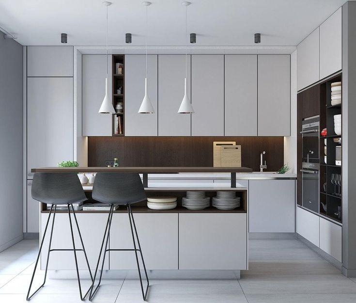35 Glamorous Modern Kitchen Ideas 2020 You Should Try Dovenda Small Modern Kitchens Kitchen Design Trends Kitchen Design Small