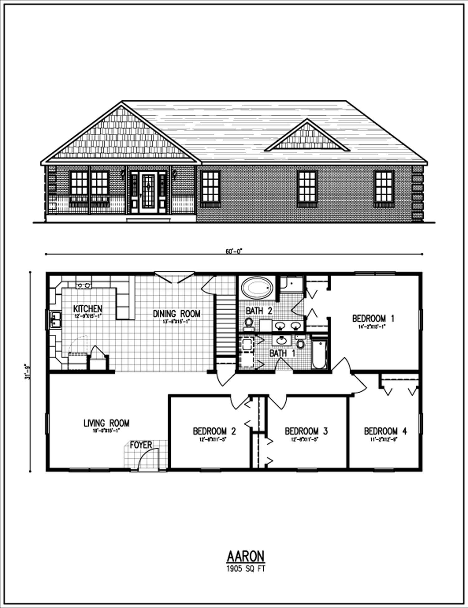 All american homes floorplan center staffordcape for One story ranch style home floor plans