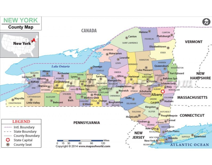 Buy New York County Map Map Of New York State New York County