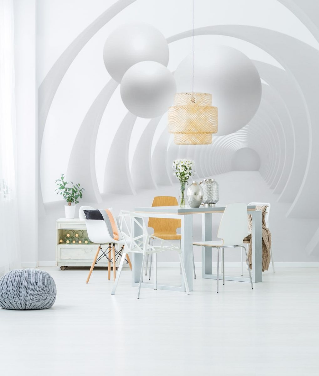 Wall Mural White Tunnel Dining Room Walls Wall Murals Home Decor