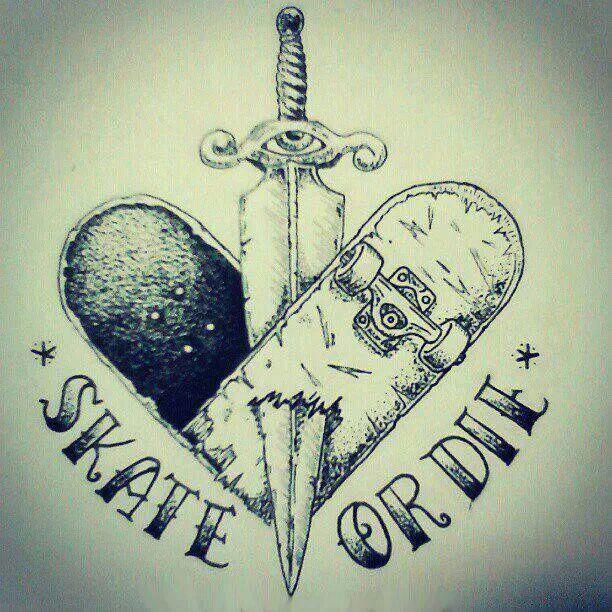 39a3efd8 Skate Or Die Tattoo | Tattoos | Skateboard tattoo, Skate tattoo ...