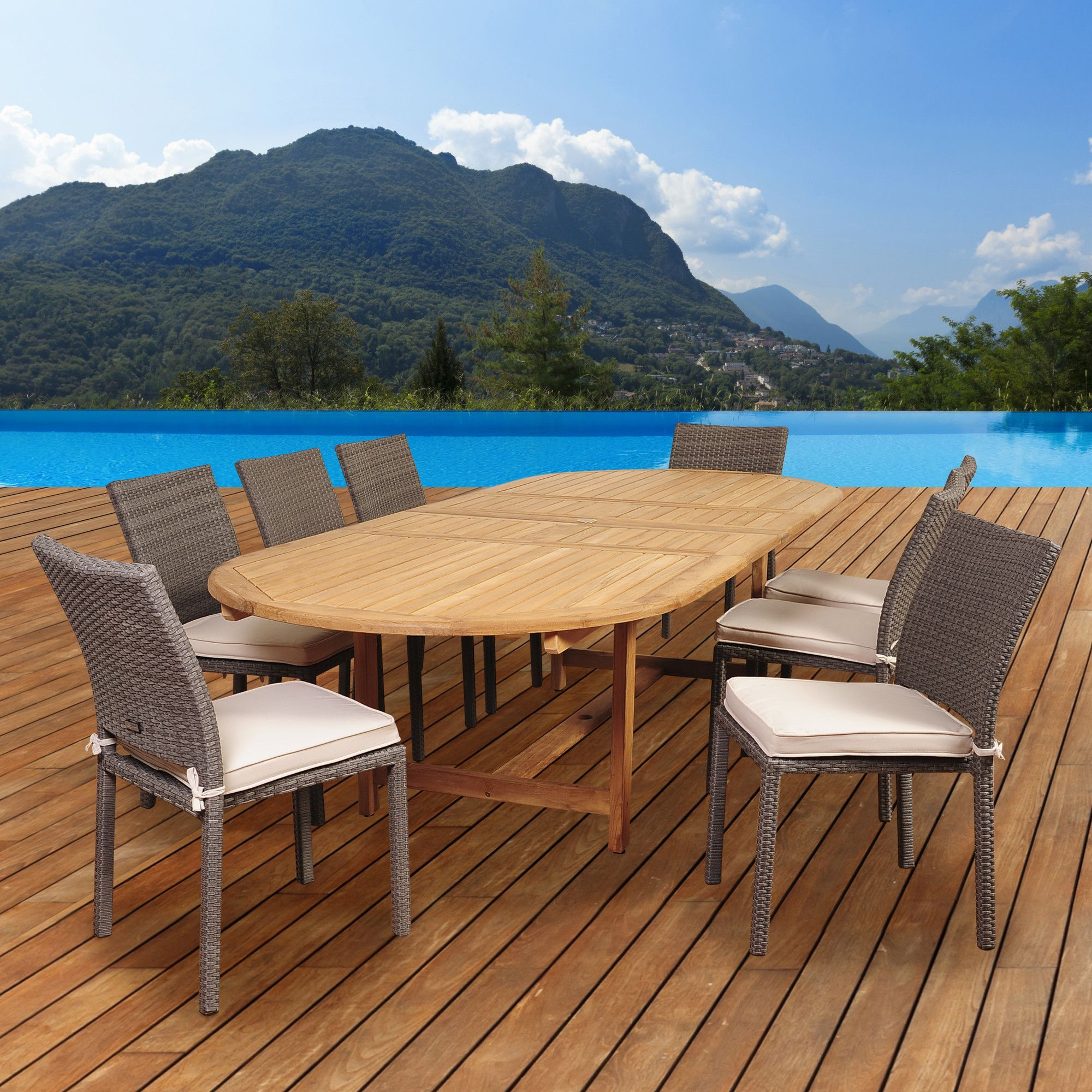 Amazonia Buena Vista 9 Piece Dining Set with Cushions