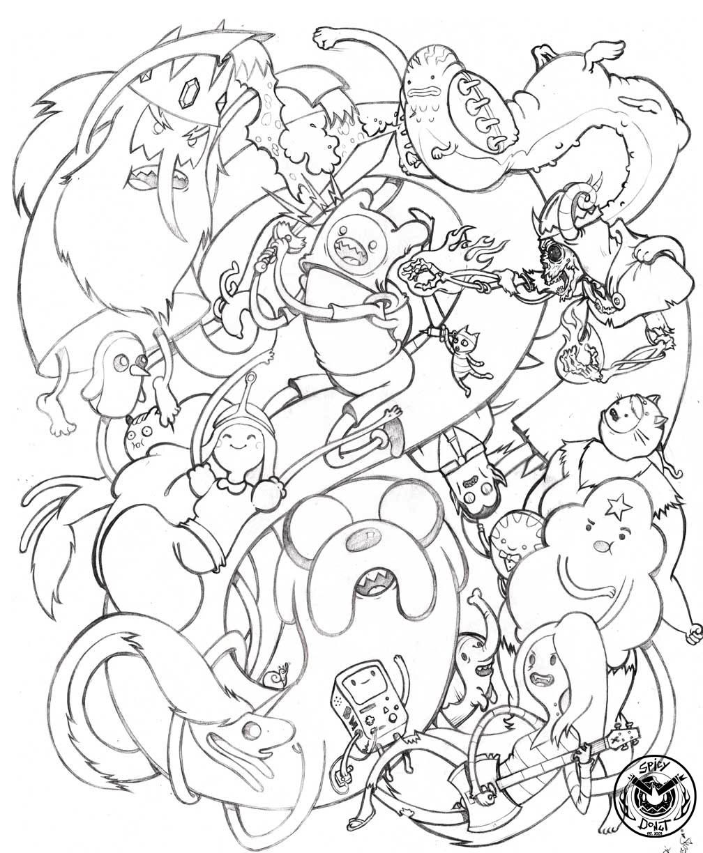 coloring pages of adventure time - photo#25