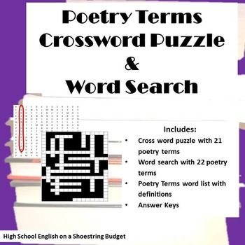 Fun Activities To Go With Learning Or Reviewing Major Poetry Terms