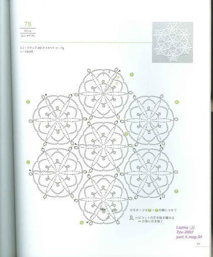 Lacework four seasons 100 Crochet Motif 10-20 cm – Tayrin 3 – Webová alba Picasa