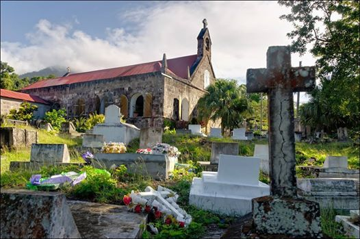 Photo: Even a cemetery can be beautiful. St. Johns Figtree - Church, #Nevis.