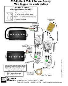 seymour duncan p rails wiring diagram 2 p rails 2 vol sg rh pinterest co uk