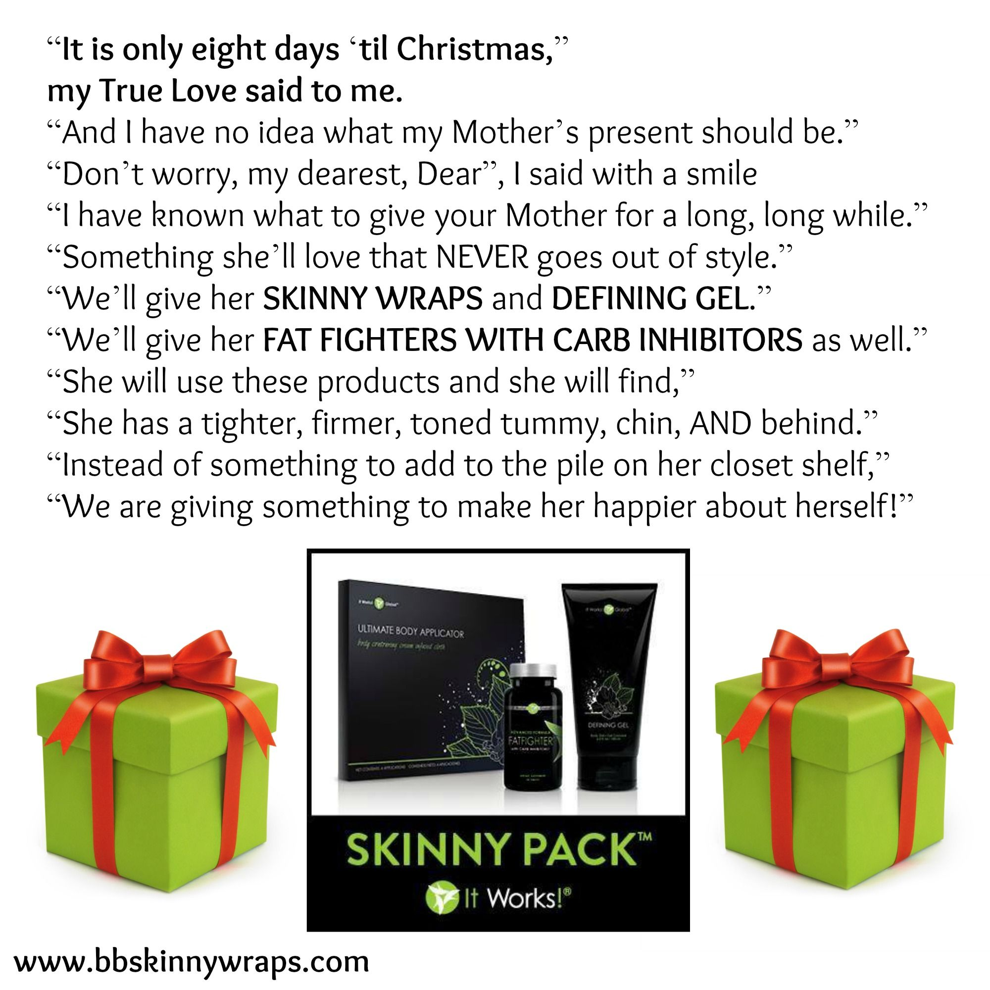 8 Days Before Christmas Try the Skinny Pack for only $109! www ...