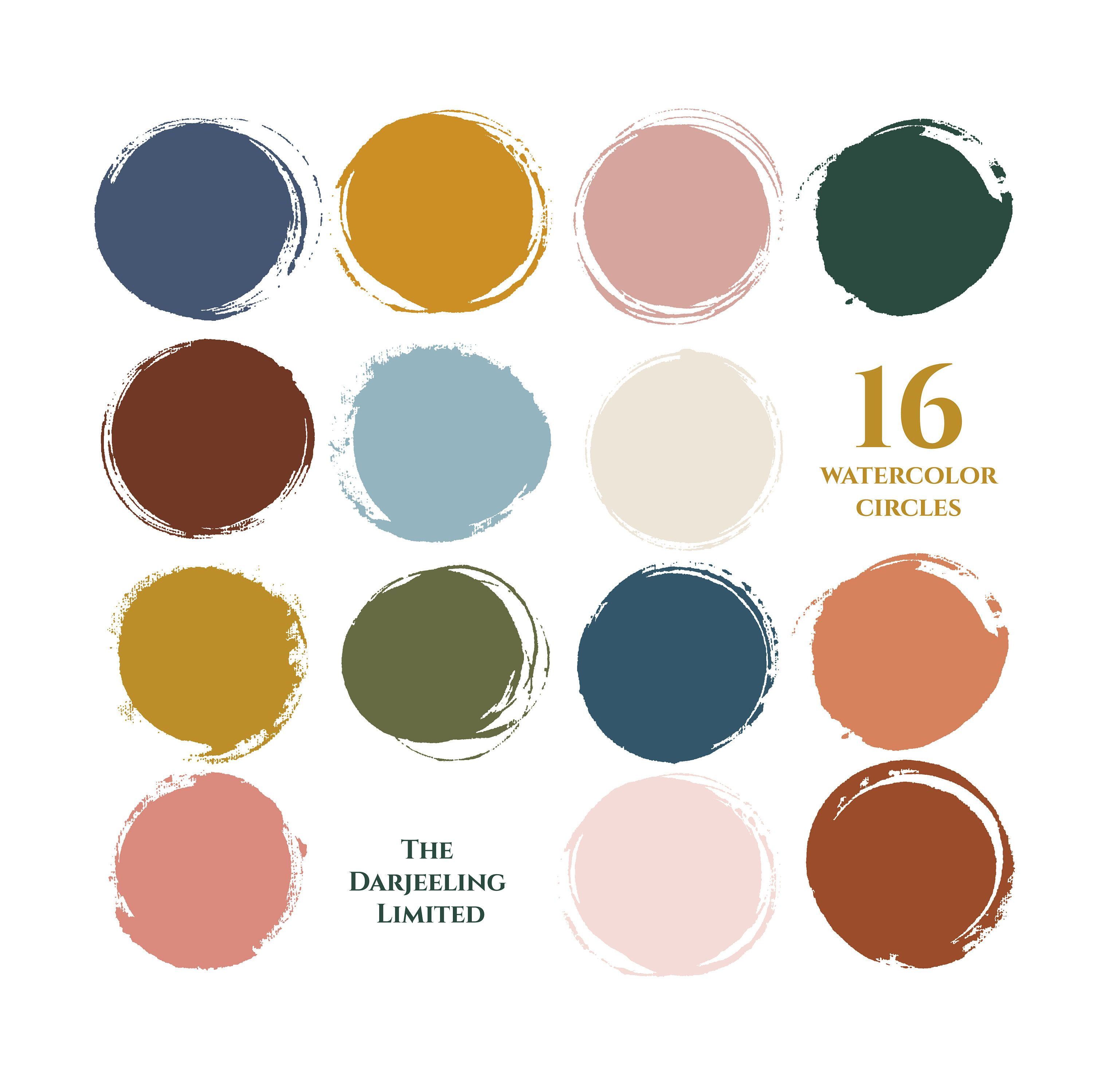 Watercolor Swatches Clipart Set Hi Res Printable Painted Form