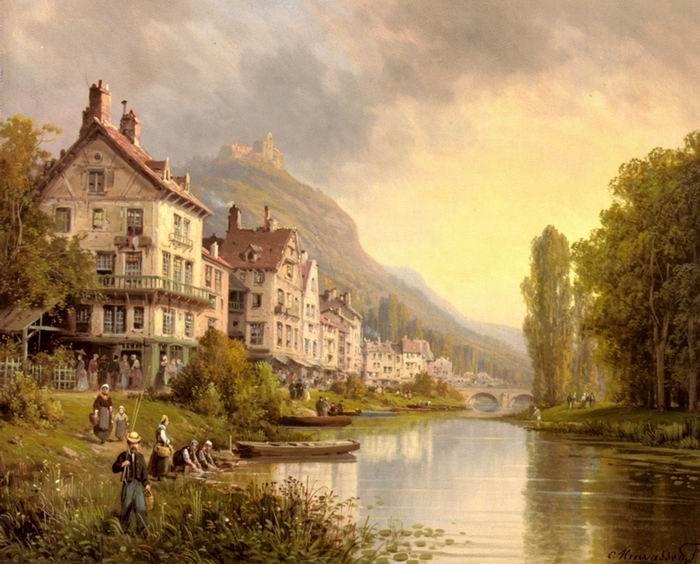 Landscape Oil Paintings Classical Landscape Oil Painting 043 Classical Landscape Oil Painting Landscape Paintings Oil Painting Landscape Landscape