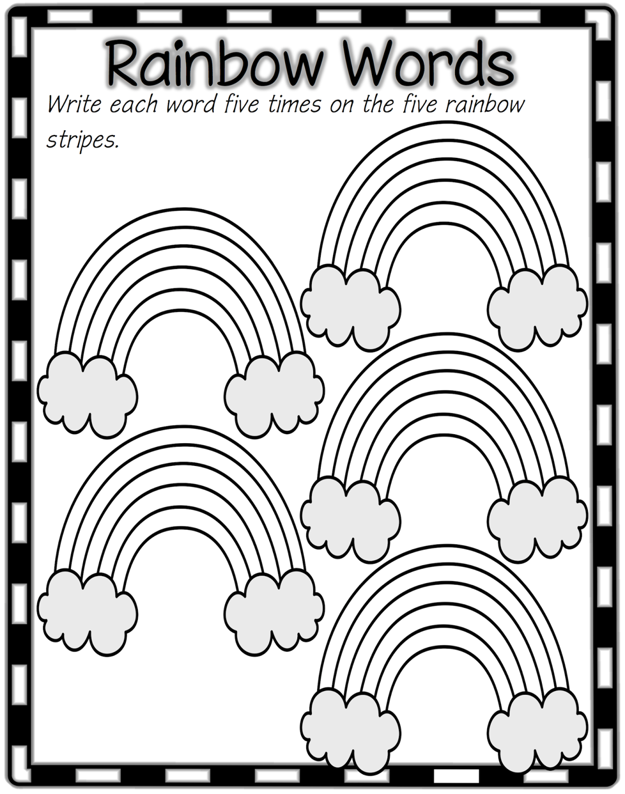 Classroom Treasures Spelling Rainbow Writing Rainbow Words Sight Word Fun [ 1600 x 1261 Pixel ]