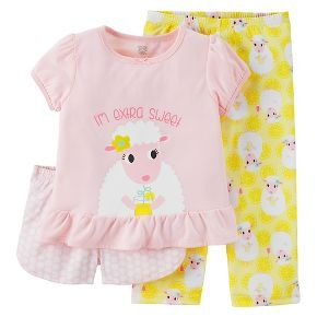 7af034311a72 Just One You™ Made by Carter s® Toddler Girls  3-Piece Sheep Pajama ...
