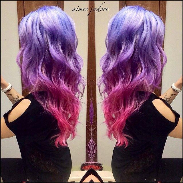 Rainbow Hair   Blue   Pink   Purple   Lilac Pastel Hair
