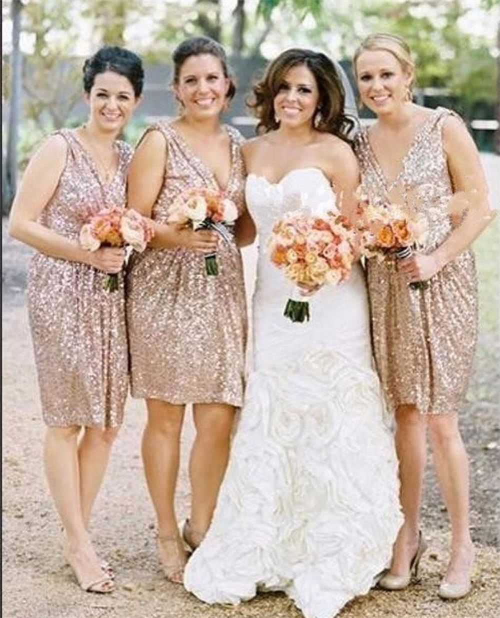 Find a sparkly short champagne gold bridesmaid dress sexy sequin find a sparkly short champagne gold bridesmaid dress sexy sequin bridesmaid dresses knee length bridesmaid gowns ombrellifo Gallery