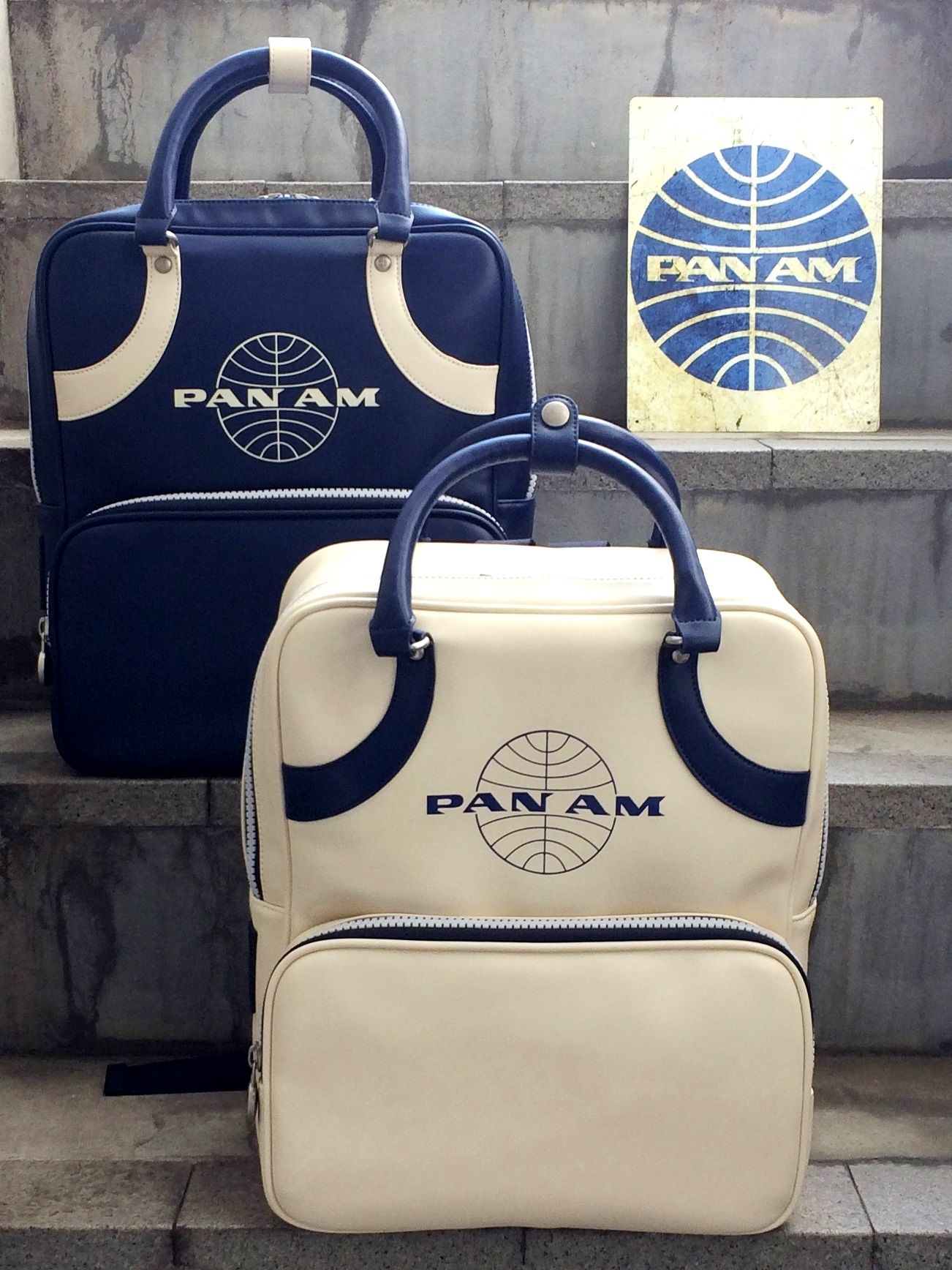 Pan Am Daily Traveler Series Backpack Color : Navy, White パンナム