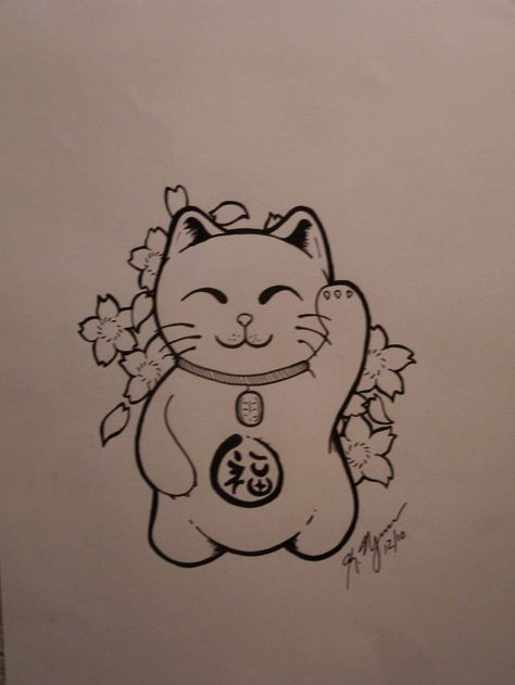 I Am Obsessed With Cats I Love Most Aspects Of Far East Asian Culture And I Lucky Cat Tattoo Cat Tattoo Designs Cat Tattoo