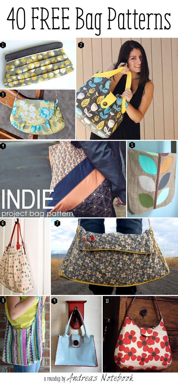 40 kostenlose Muster Tasche! | Nähen | Pinterest | kostenlose Muster ...