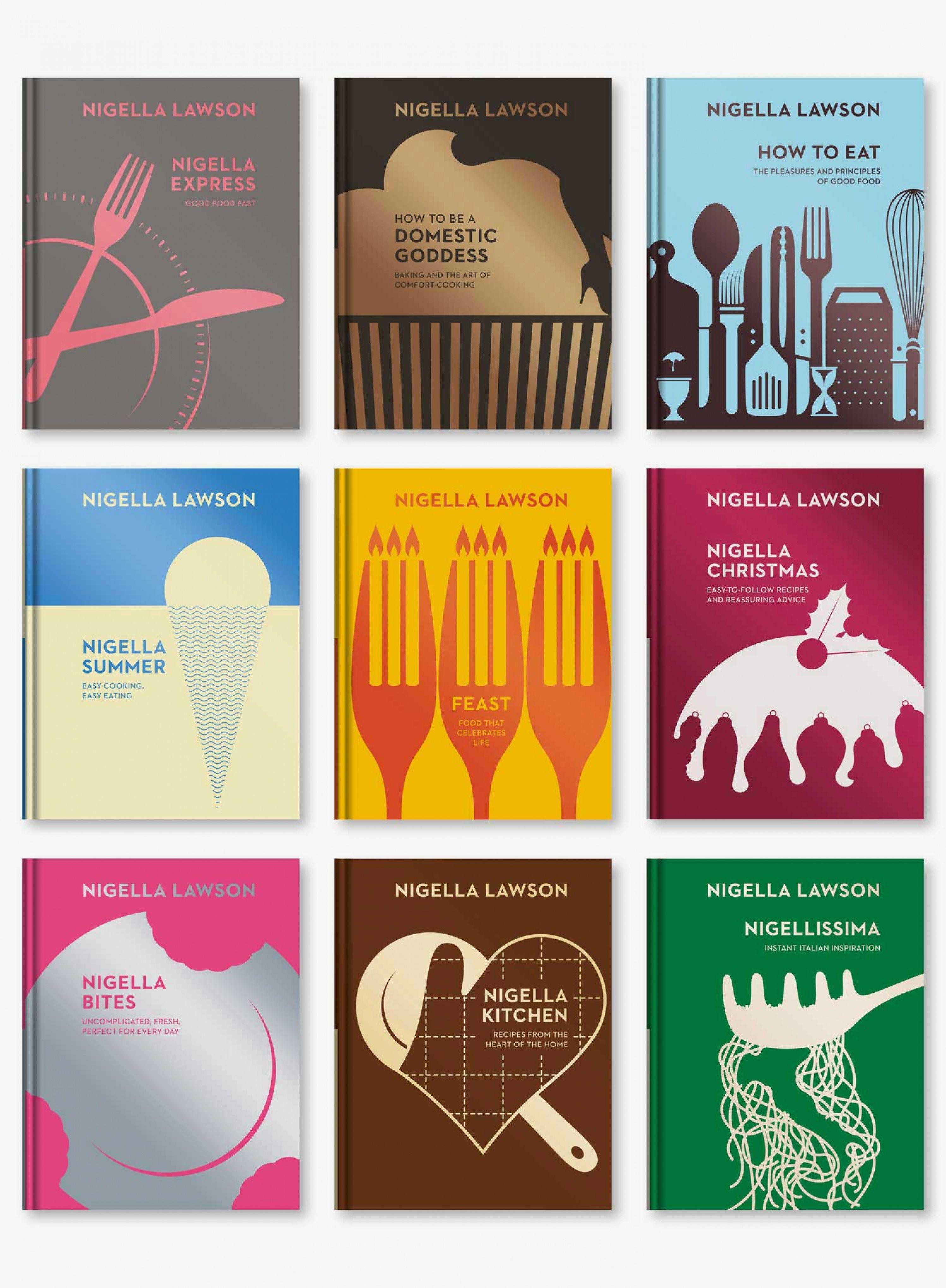 Nigella Backlist 008 Fullset Recipe Book Design Cookbook Cover Design Book Design Inspiration
