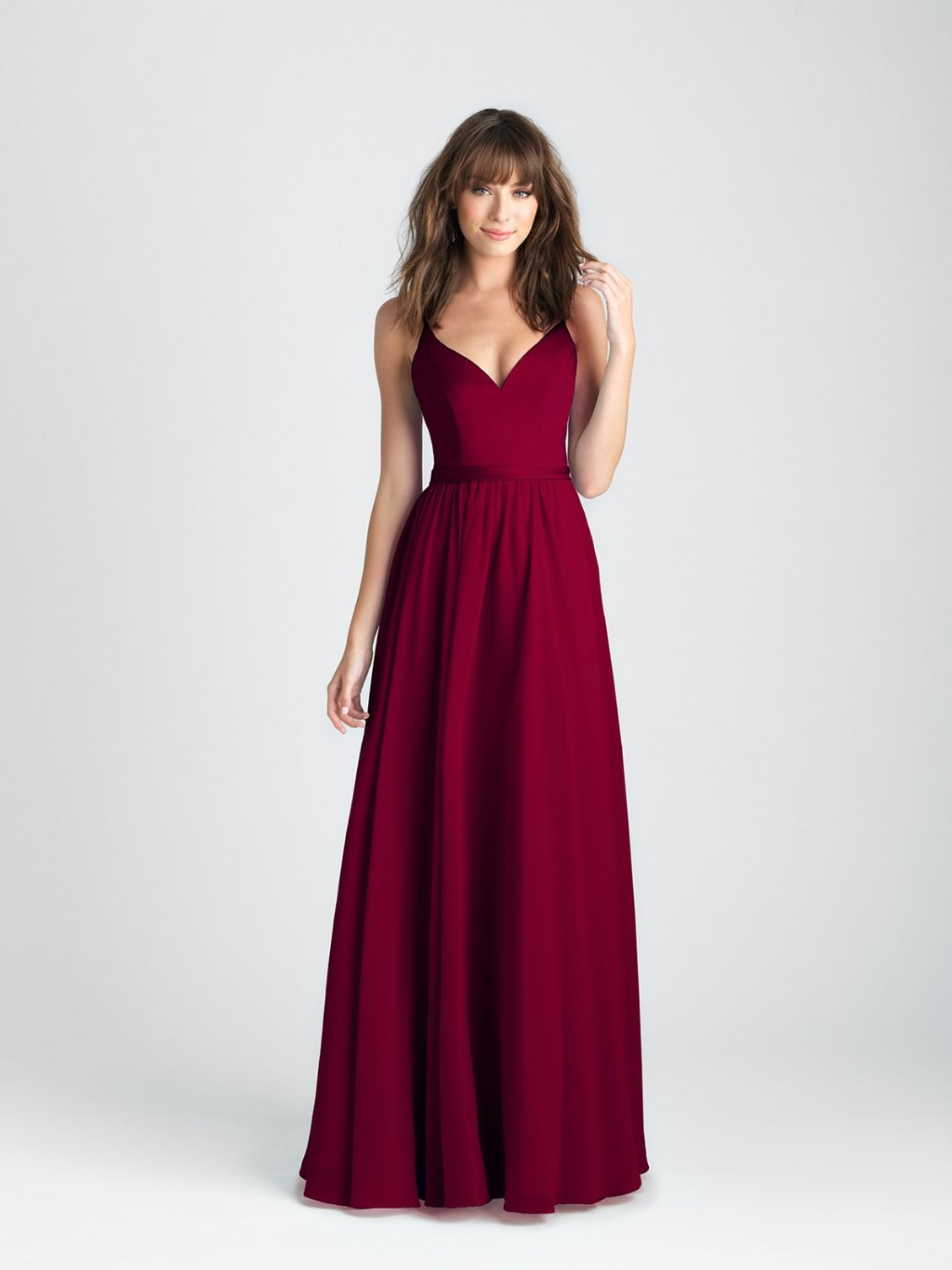 c756f2fd618 Allure Bridesmaids style 1503 in burgundy