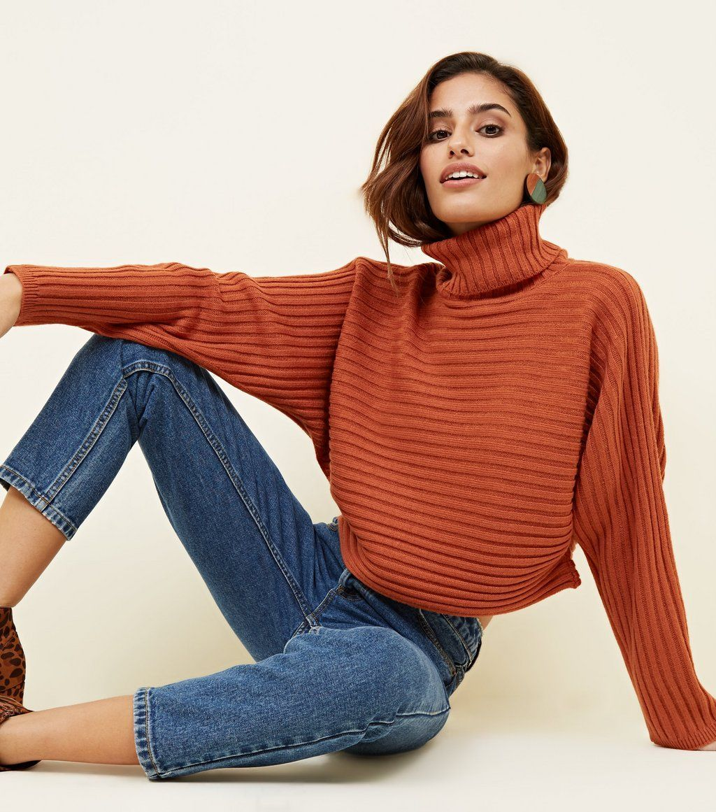 c06823858ae Pale Blue Roll Neck Boxy Cropped Jumper | SWEATER WEATHER | Jumper ...