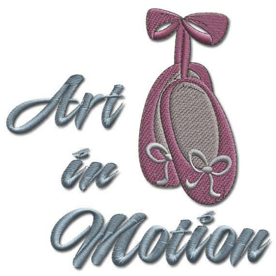 GIRLY SAYING: Art in Motion. Machine Embroidery by Embroidershoppe