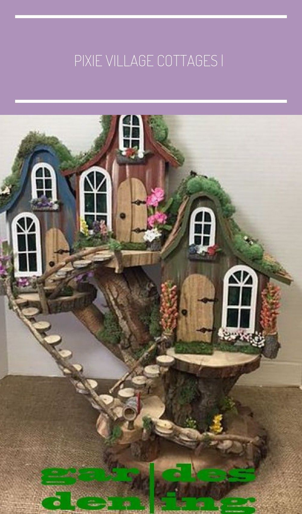 Pixie Village Cottages in 2020 Fairy tree houses