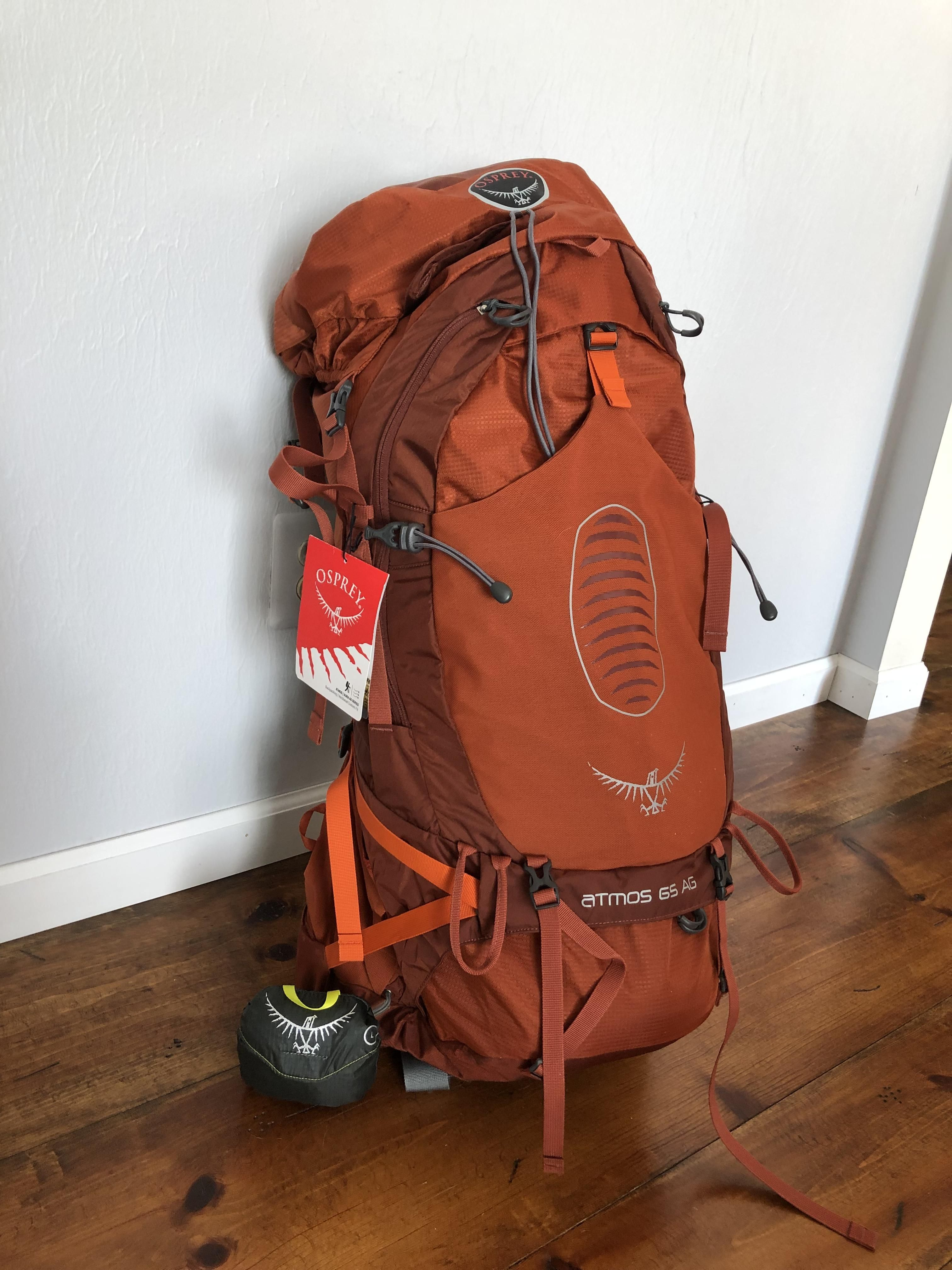 Scored My First Real Backpack With Rain Cover For 251 00 Delivered To My Door Osprey Atmos Ag 65 Hiking Camping Outdoors Osprey Atmos Rain Cover Osprey