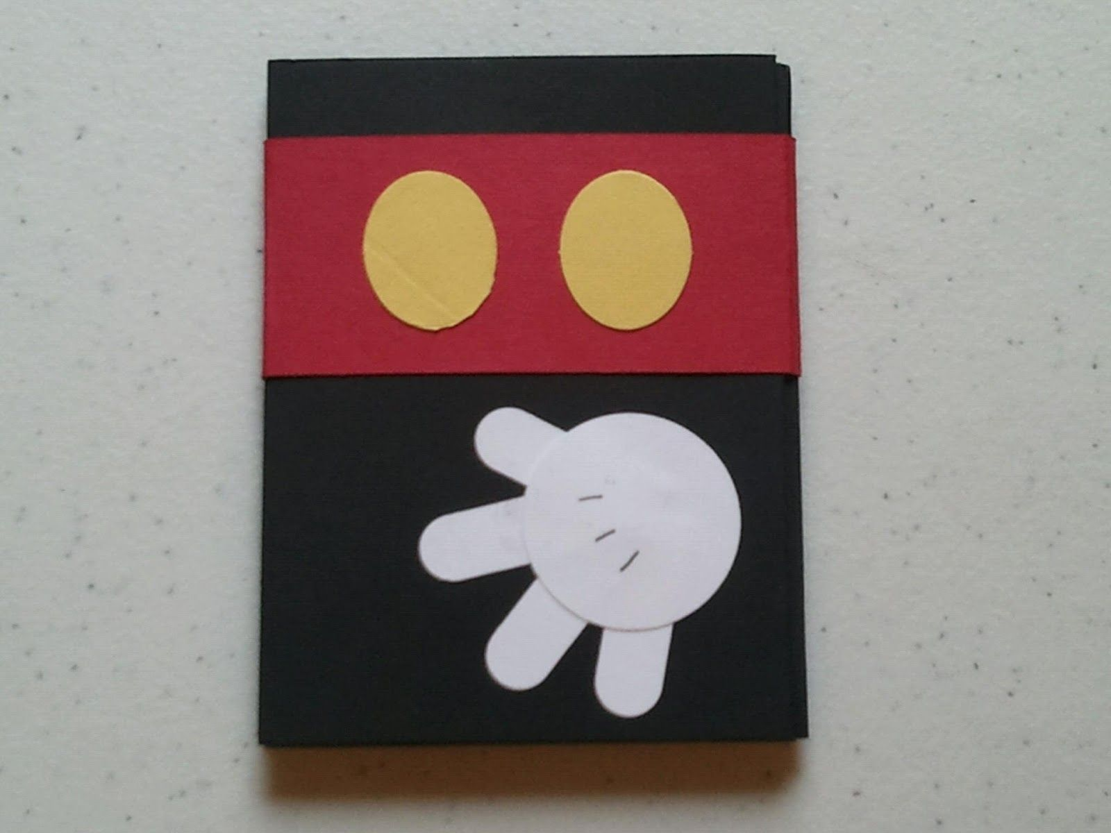 Simple Mickey Mouse Card Idea. Cindy' Creative
