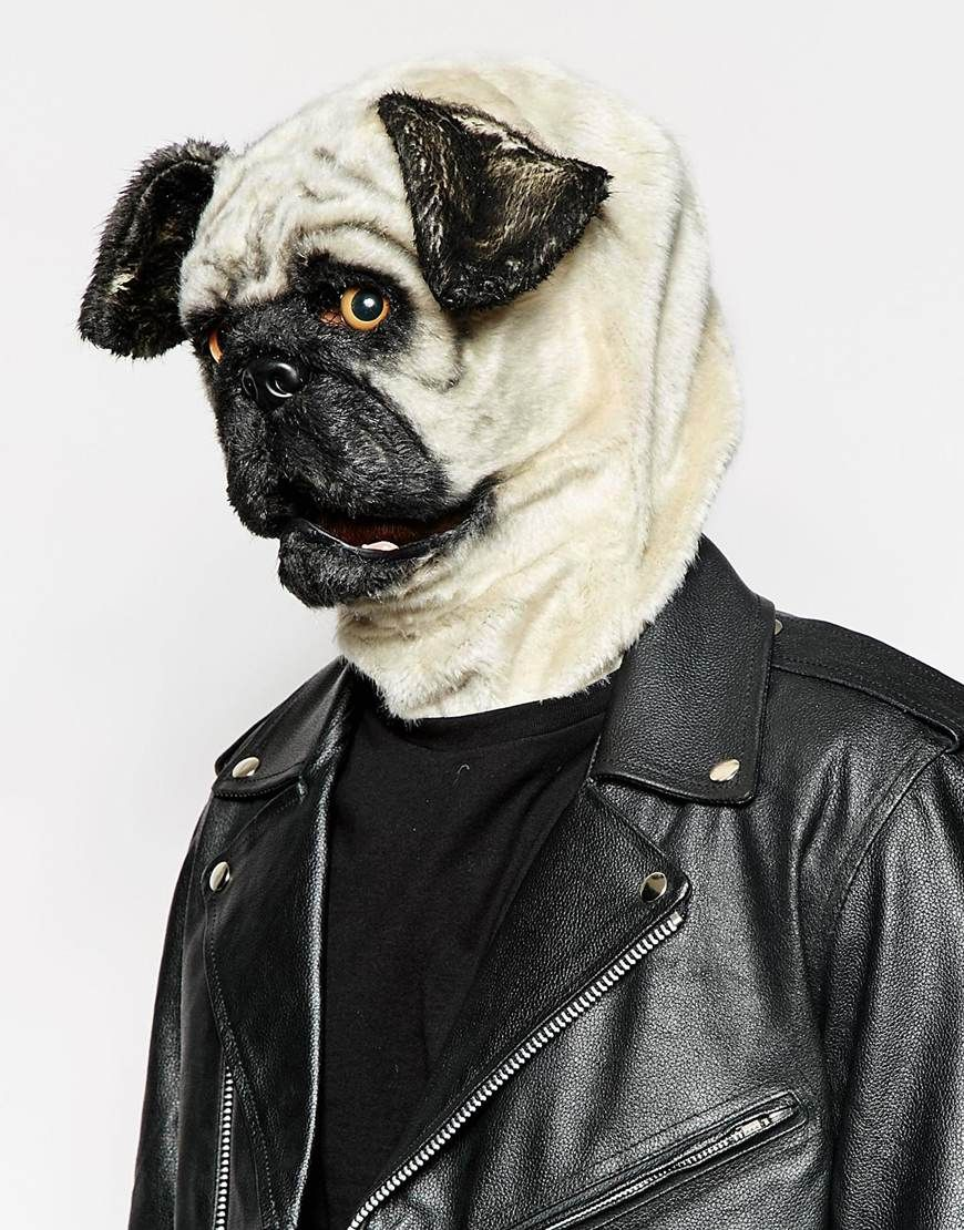 take a cue from doug the pug this halloween because this mask is puggin awesome