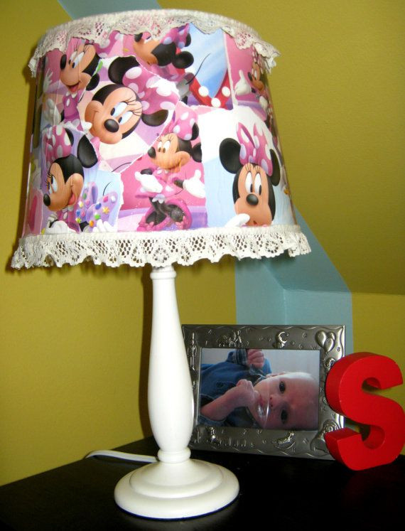 minnie mouse lamp mirabel 39 s minnie room mickey mouse. Black Bedroom Furniture Sets. Home Design Ideas