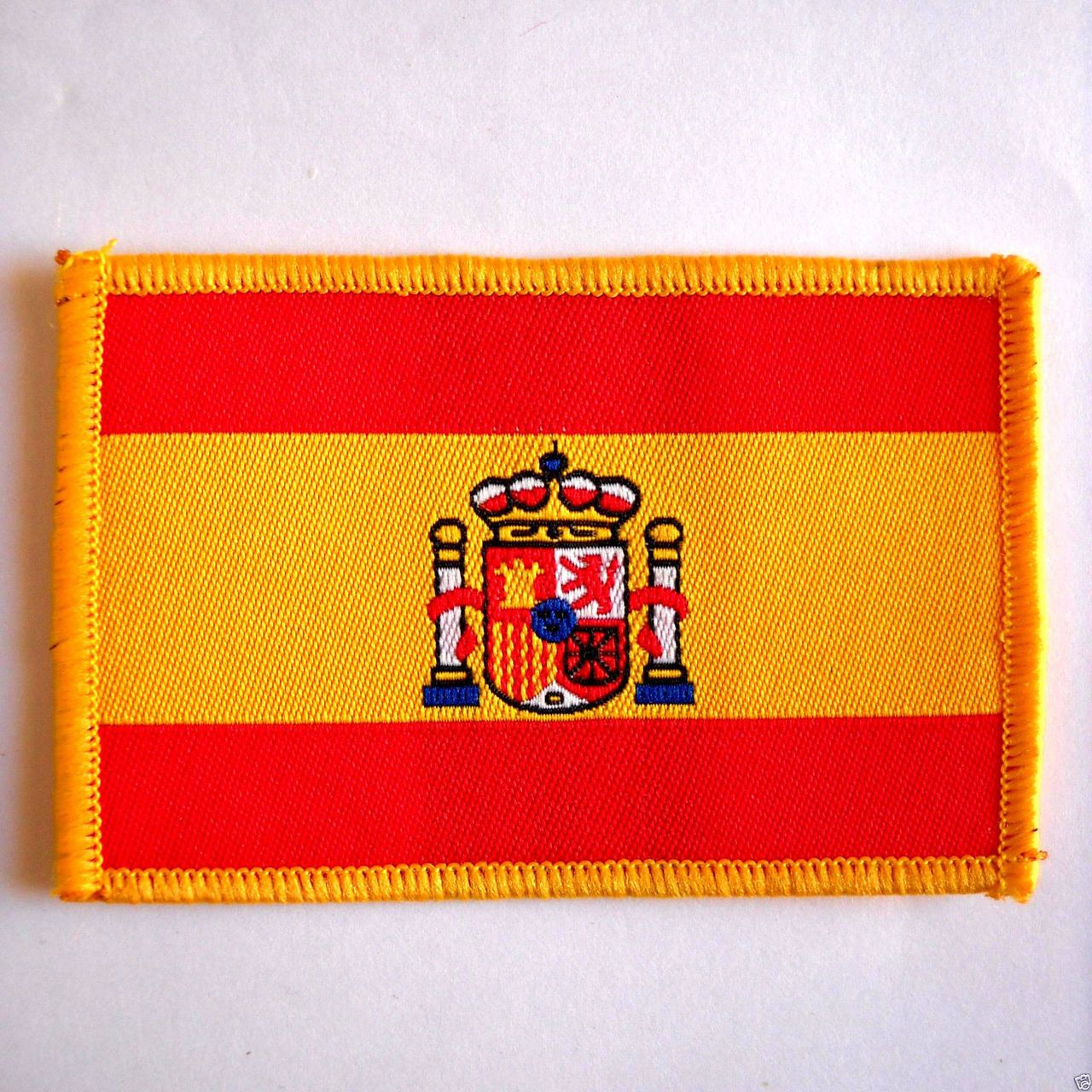 spain national flag embroidered sew on parche spanish cloth badge