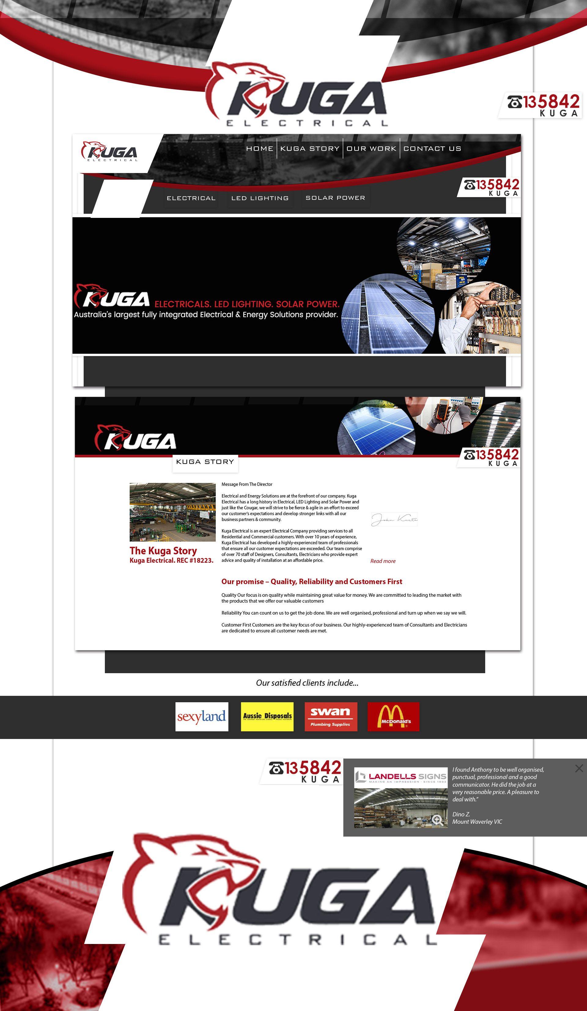 Diseño de página web Kuga Electric