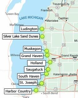 Beachtowns Michigan Pinterest Lake Michigan Beaches Michigan